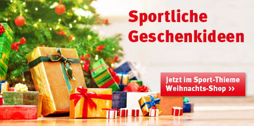 Sportliche Geschenkideen im Sport-Thieme Weihnachtsshop